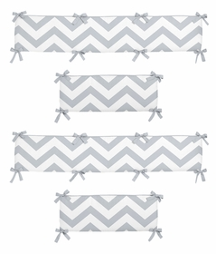 Gray and White Chevron Collection Crib Bumper by Sweet Jojo Designs