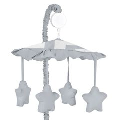 Gray and White Chevron Musical Baby Crib Mobile by Sweet Jojo Designs