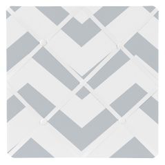 Gray and White Chevron Zig Zag Fabric Memory/Memo Photo Bulletin Board
