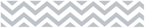 Gray and White Chevron Zig Zag Kids and Baby Modern Wall Paper Border - Click to enlarge