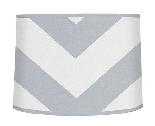 Gray and White Chevron ZigZag Lamp Shade by Sweet Jojo Designs - Click to enlarge