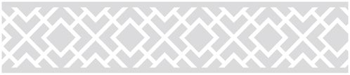 Gray and White Diamond Children and Kids Modern Wall Border by Sweet Jojo Designs - Click to enlarge