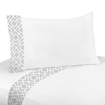 Gray and White Diamond Collection - Queen Sheet Set