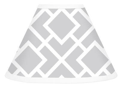 Gray and White Diamond Lamp Shade by Sweet Jojo Designs - Click to enlarge