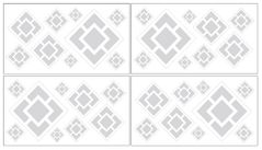 Gray and White Diamond Peel and Stick Wall Decal Stickers Art Nursery Decor by Sweet Jojo Designs - Set of 4 Sheets