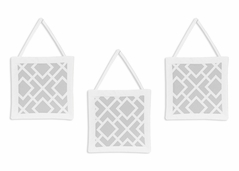 Gray and White Diamond Wall Hanging Accessories by Sweet Jojo Designs