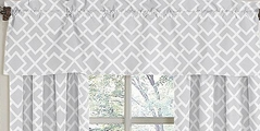 Gray and White Diamond Window Valance by Sweet Jojo Designs