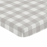 Gray and White Rustic Woodland Flannel Baby Unisex Boy or Girl Fitted Mini Portable Crib Sheet for Grey Buffalo Plaid Check Collection by Sweet Jojo Designs (For Mini Crib or Pack and Play ONLY) - Country Lumberjack