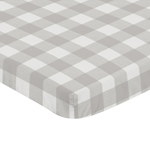 Gray and White Rustic Woodland Flannel Baby Unisex Boy or Girl Fitted Mini Portable Crib Sheet for Grey Buffalo Plaid Check Collection by Sweet Jojo Designs (Not for Standard Crib) - Country Lumberjack