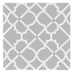 Gray and White Trellis Fabric Memory/Memo Photo Bulletin Board