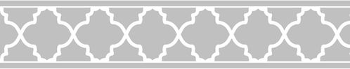 Gray and White Trellis Kids and Baby Modern Wall Paper Border by Sweet Jojo Designs - Click to enlarge