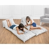 Gray and White Woodgrain Print Kids Teen Floor Pillow Case Lounger Cushion Cover by Sweet Jojo Designs
