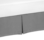 Gray Queen Bed Skirt for Gray and Orange Stripe Bedding Sets