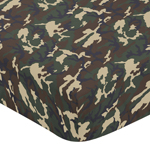 Green and Beige Camouflage Baby or Toddler Fitted Crib Sheet for Woodland Camo Collection by Sweet Jojo Designs