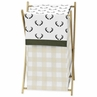 Green and Beige Rustic Deer Buffalo Plaid Check Baby Kid Clothes Laundry Hamper for Woodland Camo Collection by Sweet Jojo Designs
