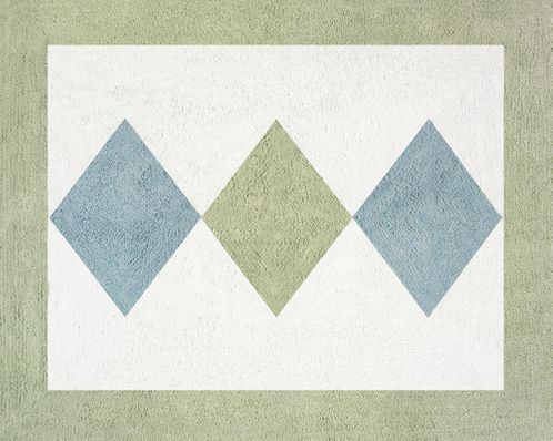 Green and Blue Argyle Accent Floor Rug - Click to enlarge