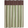 Green and Brown Ethan Kids Bathroom Fabric Bath Shower Curtain