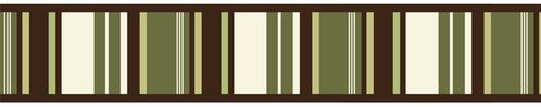 Green and Brown Ethan Modern Baby and Kids Wall Border by Sweet Jojo Designs - Click to enlarge