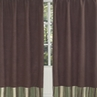 Green and Brown Ethan Modern Window Treatment Panels - Set of 2