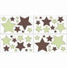 Green and Brown Hotel Baby and Childrens Modern Wall Decal Stickers - Set of 4 Sheets