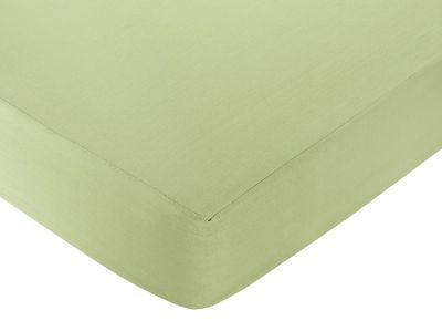 Green and Brown Hotel Fitted Crib Sheet for Baby and Toddler Bedding Sets by Sweet Jojo Designs - Green - Click to enlarge