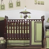 Green and Brown Hotel Modern Baby Bedding - 9 pc Crib Set