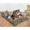 Green Camo Army Camouflage Kids Teen Floor Pillow Case Lounger Cushion Cover by Sweet Jojo Designs
