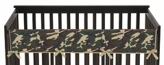 Green Camo Army Military Camouflage Baby Crib Long Rail Guard Cover by Sweet Jojo Designs