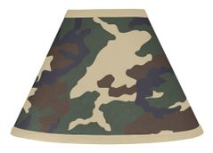 Green Camo Army Military Camouflage Lamp Shade by Sweet Jojo Designs