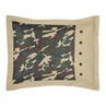 Green Camo Camouflage Pillow Sham