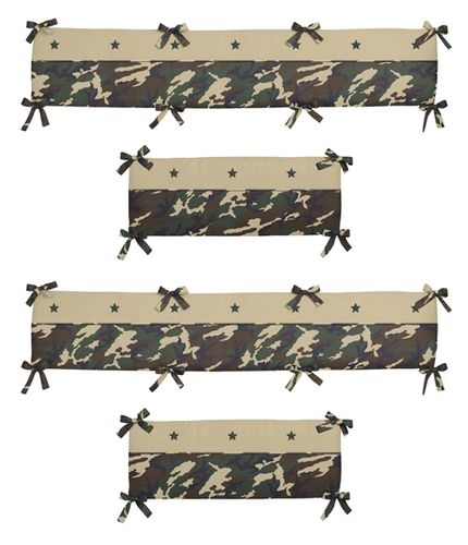 Green Camo Collection Crib Bumper by Sweet Jojo Designs - Click to enlarge