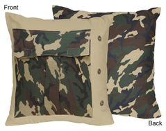 Green Camo Decorative Accent Throw Pillow by Sweet Jojo Designs