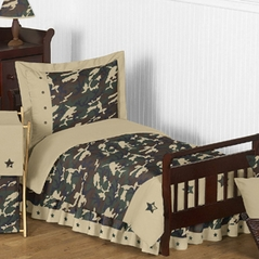 Green Camouflage Toddler Bedding - 5pc Set by Sweet Jojo Designs