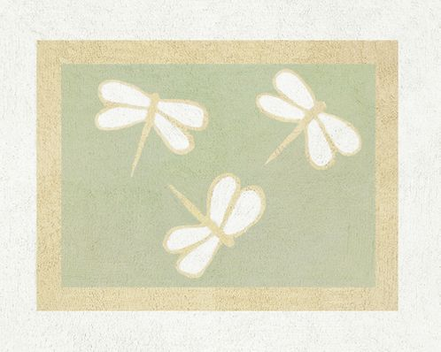 Green Dragonfly Dreams Accent Floor Rug - Click to enlarge