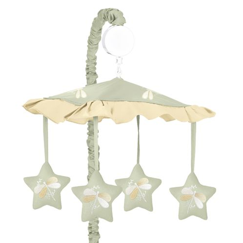 Green Dragonfly Dreams Musical Crib Mobile - Click to enlarge