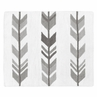 Grey and White Accent Floor Rug or Bath Mat for Woodland Arrow Collection by Sweet Jojo Designs