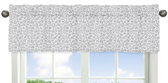 Grey and White Animal Print Window Valance for Pink and Gray Kenya Collection
