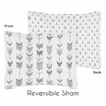 Grey and White Arrow and Triangle Standard Pillow Sham for Woodland Arrow Collection by Sweet Jojo Designs