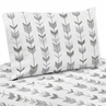 Grey and White Arrow Twin Sheet Set for Woodsy Collection by Sweet Jojo Designs - 3 piece set