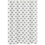 Grey and White Bathroom Fabric Bath Shower Curtain for Watercolor Elephant Safari Collection by Sweet Jojo Designs
