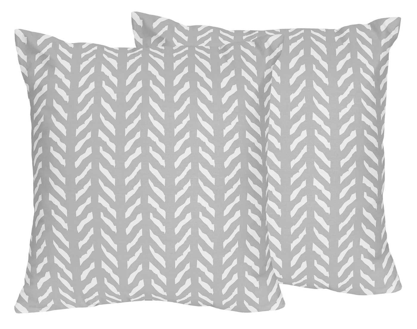 Grey And White Boho Herringbone Arrow Decorative Accent Throw Pillows For Gray Woodland Forest Friends Collection By Sweet Jojo Designs Set Of 2 Only 46 99