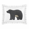 Grey and White Boho Tribal Bear Standard Pillow Sham for Gray Woodland Forest Friends Collection by Sweet Jojo Designs