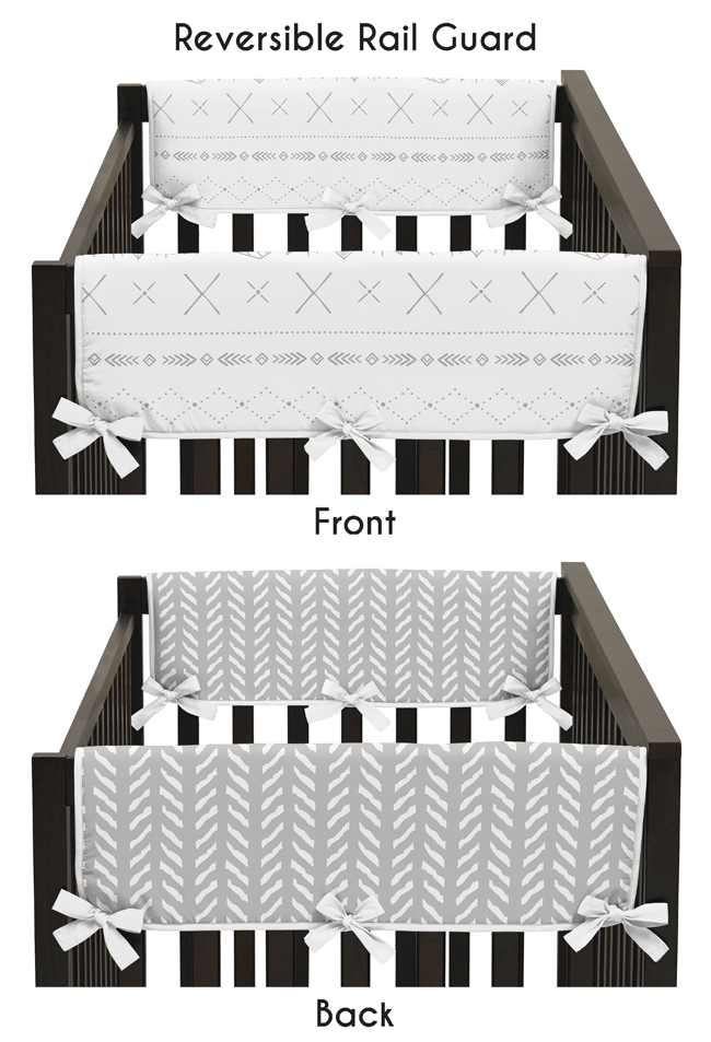 Sweet Jojo Designs Grey and White Boho Tribal Herringbone Arrow Unisex Boy or Girl Baby Nursery Musical Crib Mobile for Gray Woodland Forest Friends Collection