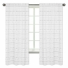Grey and White Boho Tribal Window Treatment Panels Curtains for Gray Woodland Forest Friends Collection by Sweet Jojo Designs - Set of 2