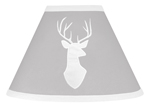 Grey and White Deer Lamp Shade for Woodsy Collection by Sweet Jojo Designs