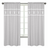 Grey and White Deer Window Treatment Panels Curtains for Woodsy Collection by Sweet Jojo Designs - Set of 2