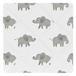 Grey and White Fabric Memory Memo Photo Bulletin Board for Blush Pink Watercolor Elephant Safari Collection by Sweet Jojo Designs