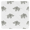 Grey and White Fabric Memory Memo Photo Bulletin Board for Mint Watercolor Elephant Safari Collection by Sweet Jojo Designs
