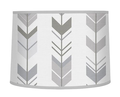 Grey and White Lamp Shade for Woodland Arrow Collection by Sweet Jojo Designs - Click to enlarge