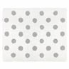 Grey and White Polka Dot Accent Floor Rug or Bath Mat for Watercolor Floral Collection by Sweet Jojo Designs